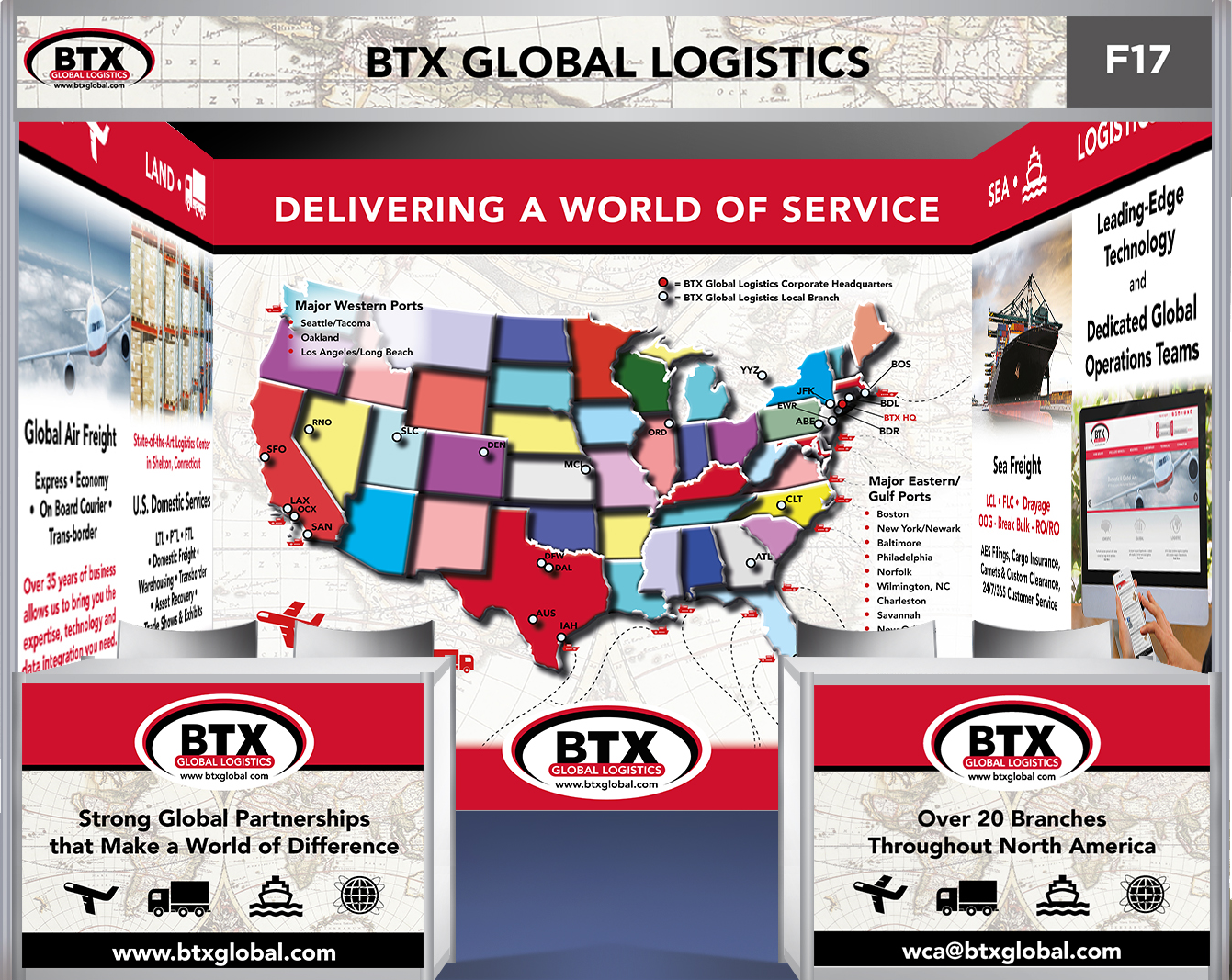 BTX Global Logistics Booth